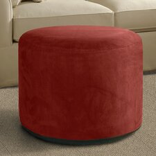 Round Microsuede Inflatable Ottoman