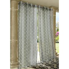 Outdoor Décor Wrought Iron Single Curtain Panel
