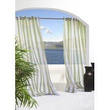 Outdoor Décor Escape Outdoor Stripe Grommet Top Single Curtain Panel