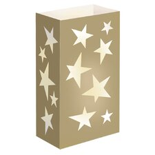 Gold Star Flame Resistant Luminarie Bags (Set of 12)