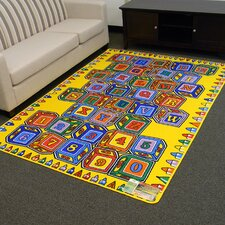 Paradise Alphabets Stacking Block Outdoor Area Rug