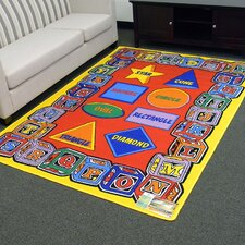 Paradise Alphabets Blocks and Shapes Outdoor Area Rug