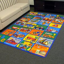 Paradise Alphabets Transportation Outdoor Area Rug