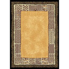 African Adventure Africa Skin Gold/Yellow Area Rug