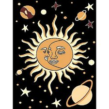 African Adventure Sun-Moon Area Rug