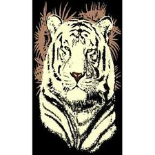 African Adventure Tiger Head Area Rug