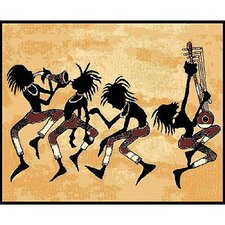 African Adventure Tribal Dance Area Rug