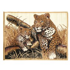 African Adventure Cheetah and Cub Novelty Rug