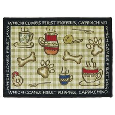 PB Paws & Co. Multi Puppy First Tapestry Indoor/Outdoor Area Rug