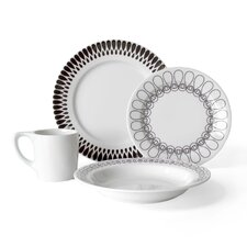 Ribbon 16 Piece Dinnerware Set