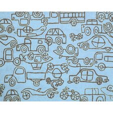 Kids Transport Ozone Blue/Sable Area Rug