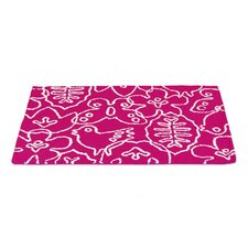 Season White/Pink Area Rug