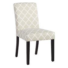 Milan Side Chair in Soft Gray Lattice