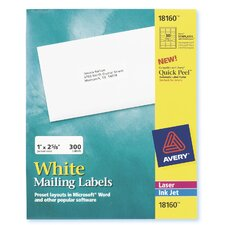 30 Labels 10 Sheets Mailing Label in White (Set of 5)