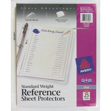 25 Pack Clear Standard Weight Reference Sheet Protector (Set of 4)