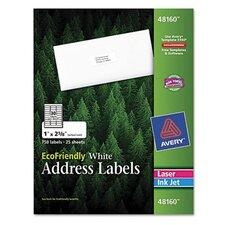 EcoFriendly Laser and Inkjet MailingLabels