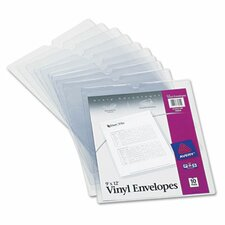 Top-Load Clear Envelopes with Thumb Notch, 10/Pack