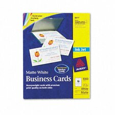 Inkjet Matte Business Cards, 1000/Box