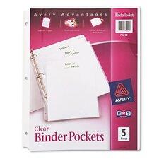 Binder Polypropylene Pocket (5 Pack) (Set of 2)
