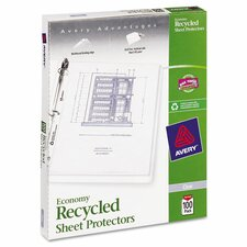 Top-Load Recycled Polypropylene Sheet Protector (100 Pack)