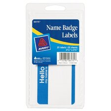 "4"" x 6"" Name Badge Label 25 Count (Set of 6)"