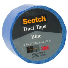 "1.5"" X 5 Yards Blue Scotch® Duct Tape 1055-BLU-1P (Set of 6)"