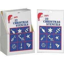 Christmas Stencils Display (Set of 36)