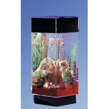 Aqua 8 Gallon Scape Hexagon Aquarium Kit