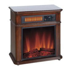 Devonshire Infrared Quartz Mobile Electric Fireplace with Remote