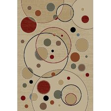 Gem Balloons Ivory Contemporary Rug