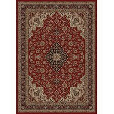 Persian Classics Oriental Medallion Red Area Rug