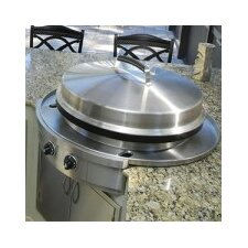 "36.16"" Affinity 30G Drop In Flattop Gas Grill with Cooktop"