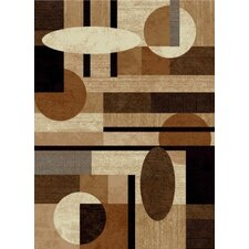 Tribeca Patterned Brown & Tan Area Rug
