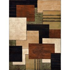 Tribeca Brown & Green Area Rug