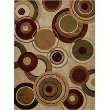 Tribeca Geometric Brown & Tan Area Rug