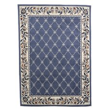 Geometric Country Blue Area Rug