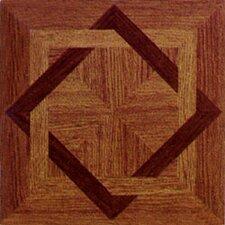 "12"" x 12"" 20 Piece Vinyl Tile in Wood Star"