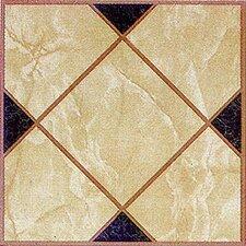 "12"" x 12"" Luxury Vinyl Tile in Light Brown Squares Cross"