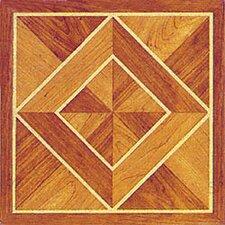 "12"" x 12"" Luxury Vinyl Tile in Light / Dark Wood Diamond"
