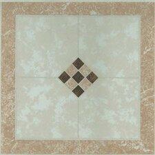"Dynamix Vinyl Tile 12"" x 12"" Vinyl Tile in Small Checkerboard"