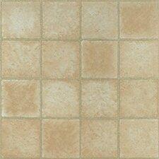 """Dynamix Vinyl Tile 12"""" x 12"""" Luxury Vinyl Tile in Crème Marble Cubism"""