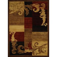 Catalina Light Brown & Red Area Rug