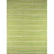 Kidz Image Mellow Green Stripe Area Rug