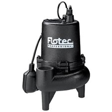 3/4 HP Cast Iron Professional Series Sewage Pump