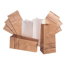 "8 6.13"" Kraft Paper Bag in Brown (Set of 2)"