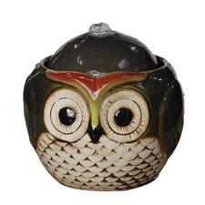 Ceramic Owl Tabletop Fountain