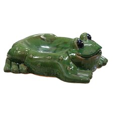 Ceramic Frog Bird Feeder