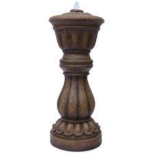 Modern Polyresin Pedestal Fountain