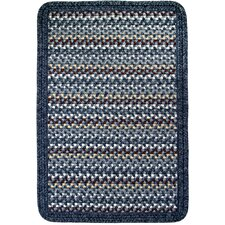 Vineyard Haven South Beach/Blue Heather Border Indoor/Outdoor Area Rug
