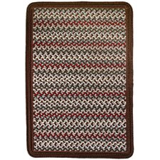 Vineyard Haven Island Cliffs/Solid Brown Border Indoor/Outdoor Area Rug
